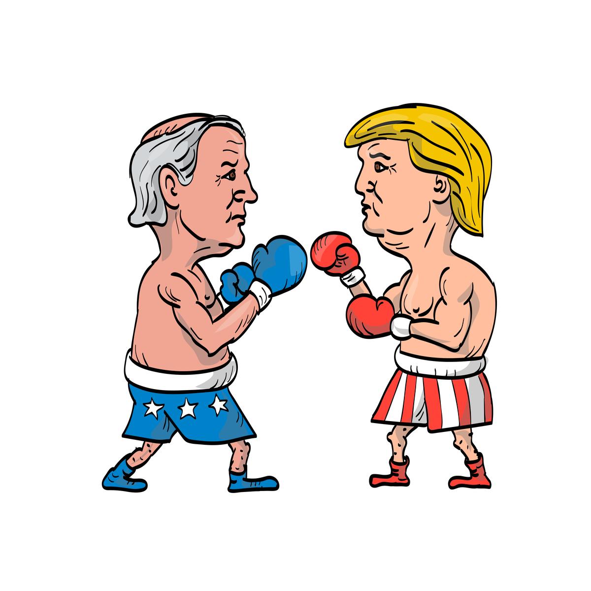Trump vs Biden, first round