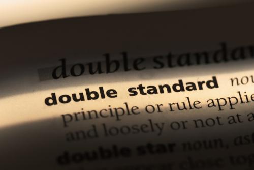 double standard